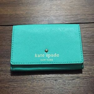 Authentic teal Kate Spade ♠️ pocket wallet.